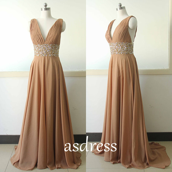 Brown cocktail dress wedding guest dress sequins evening for Brown dresses for wedding guest